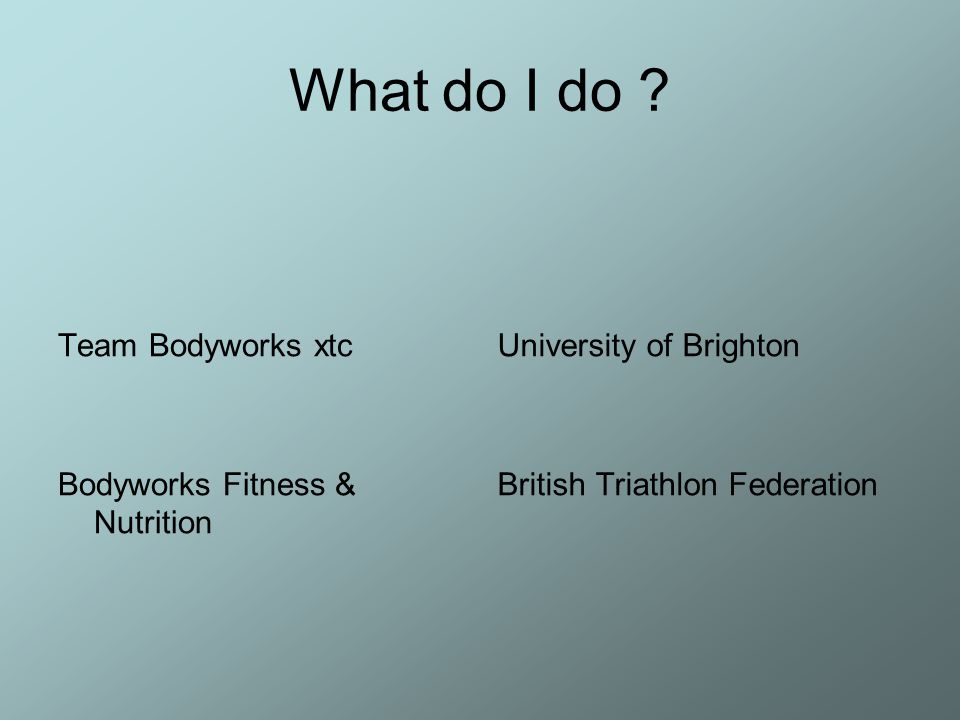 What do I do Team Bodyworks xtc Bodyworks Fitness & Nutrition