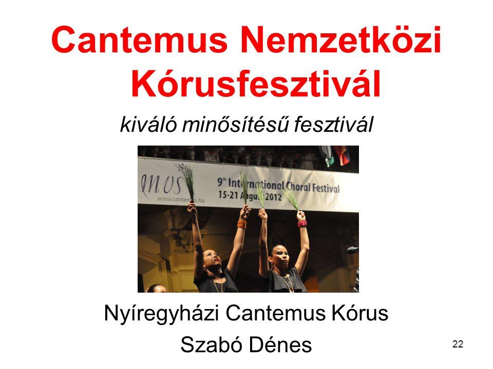 Cantemus Nemzetközi Kórusfesztivál
