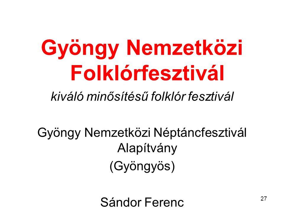 Gyöngy Nemzetközi Folklórfesztivál