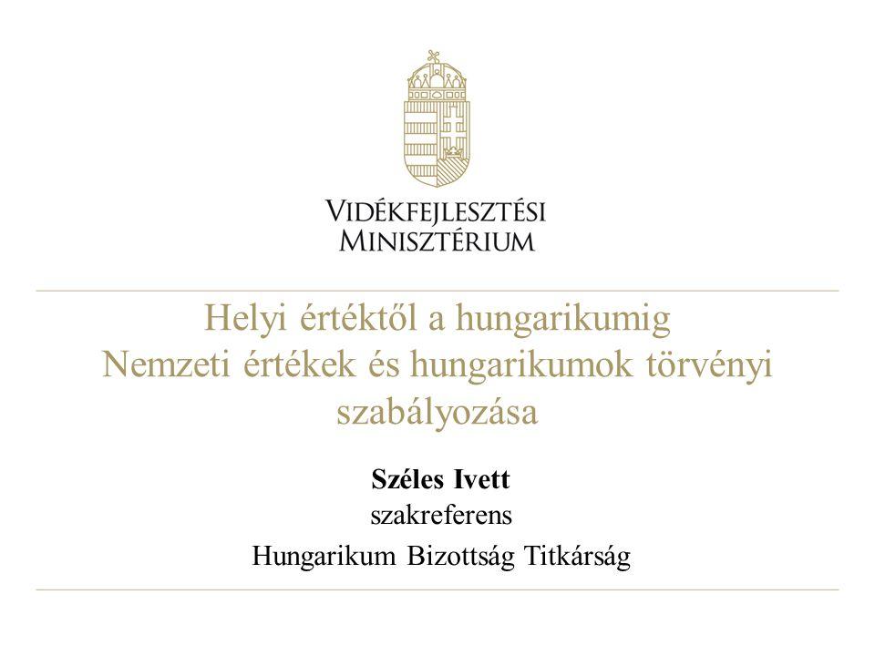 Széles Ivett szakreferens Hungarikum Bizottság Titkárság