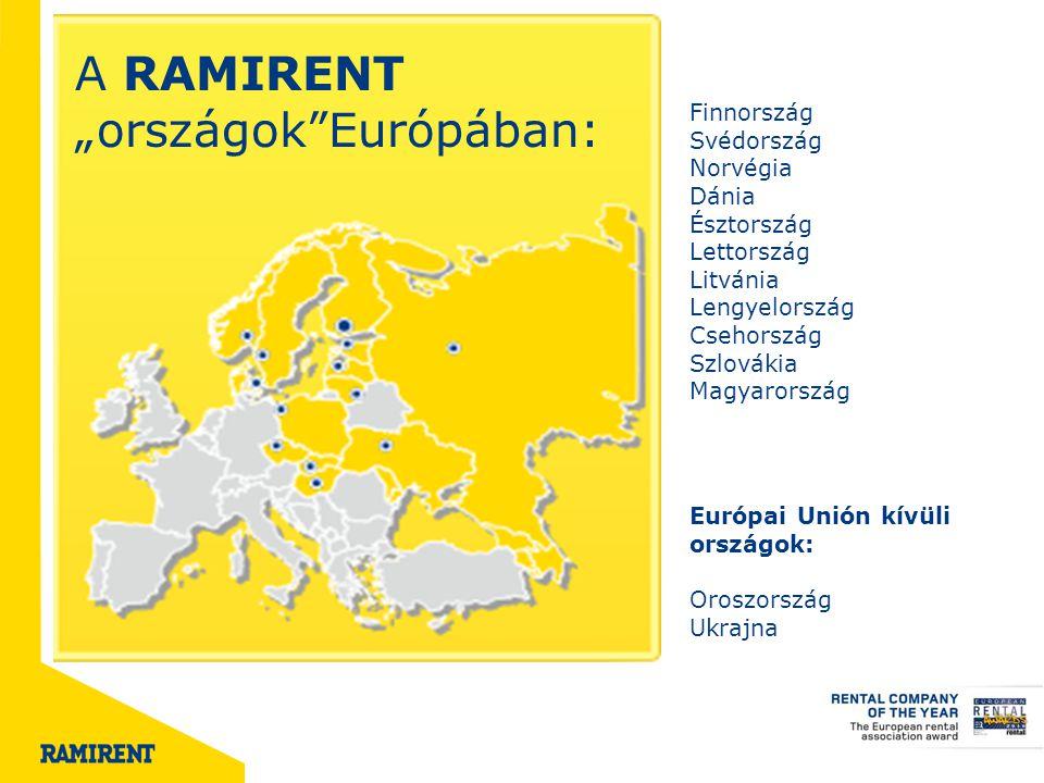 """A RAMIRENT """"országok Európában:"""