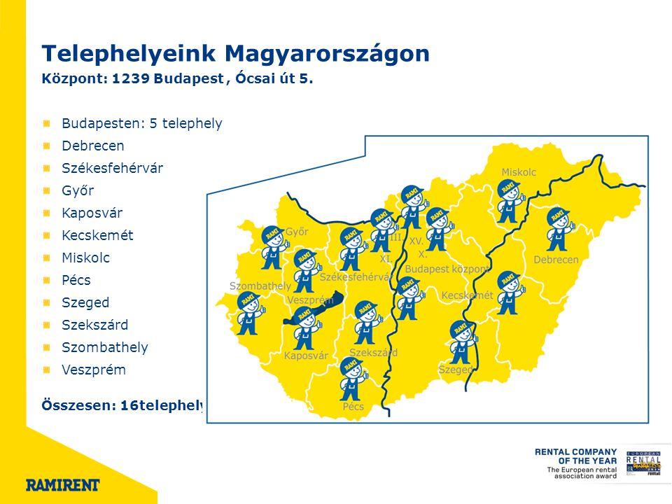 Telephelyeink Magyarországon