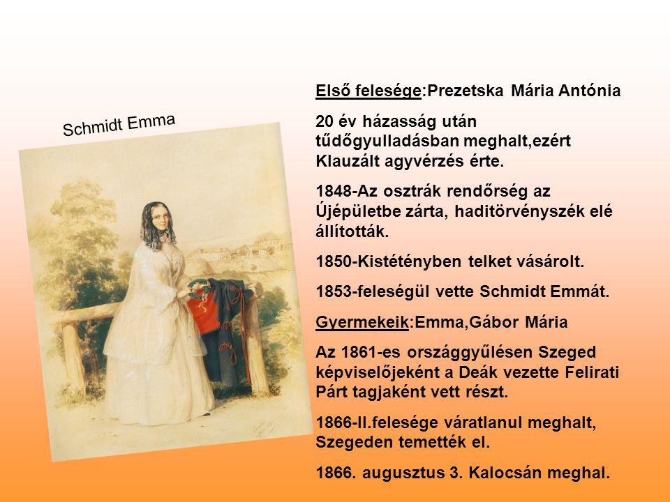Első felesége:Prezetska Mária Antónia