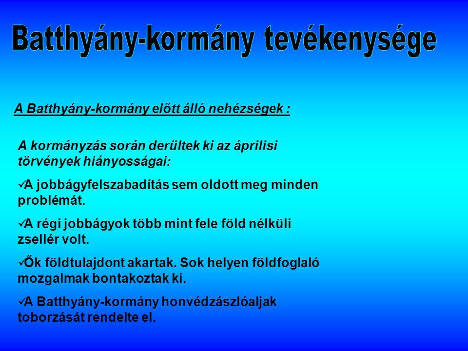 Batthyány-kormány tevékenysége