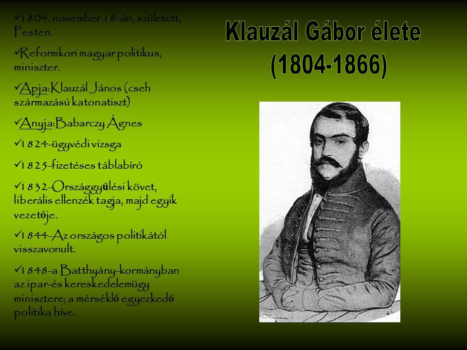 Klauzál Gábor élete (1804-1866)