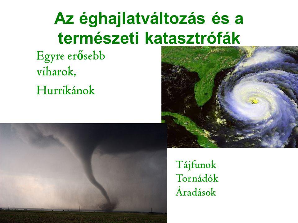 Az éghajlatváltozás és a természeti katasztrófák