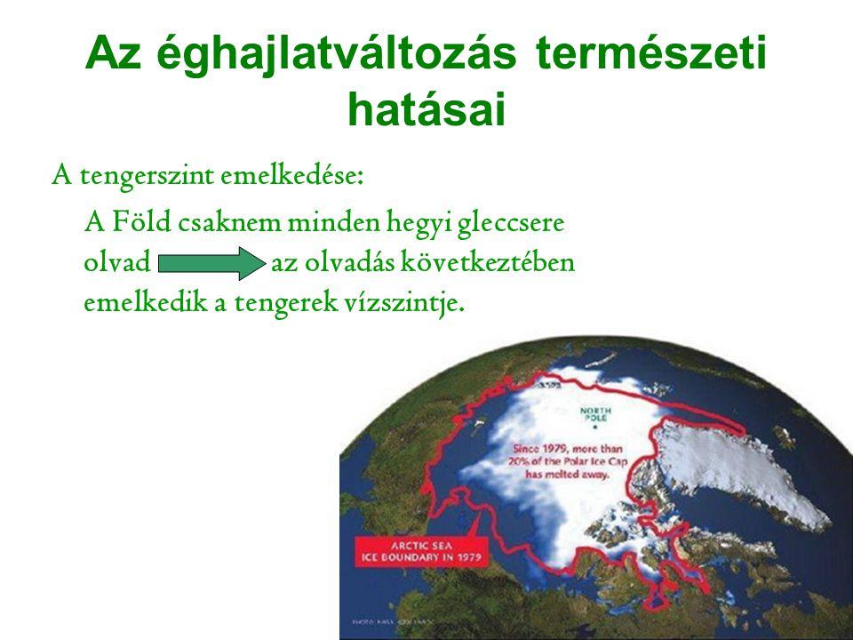 Az éghajlatváltozás természeti hatásai
