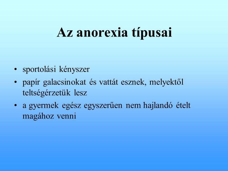 Az anorexia típusai sportolási kényszer