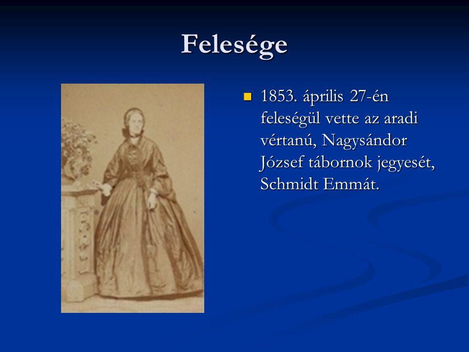 Felesége 1853.