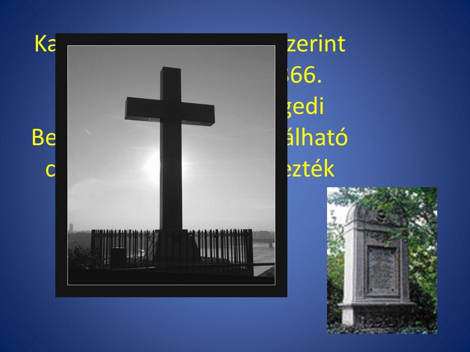 Kalocsán (több lexikon szerint Szegeden) hunyt el 1866. augusztus 3-án