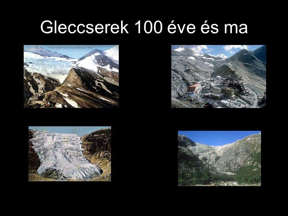 Gleccserek 100 éve és ma