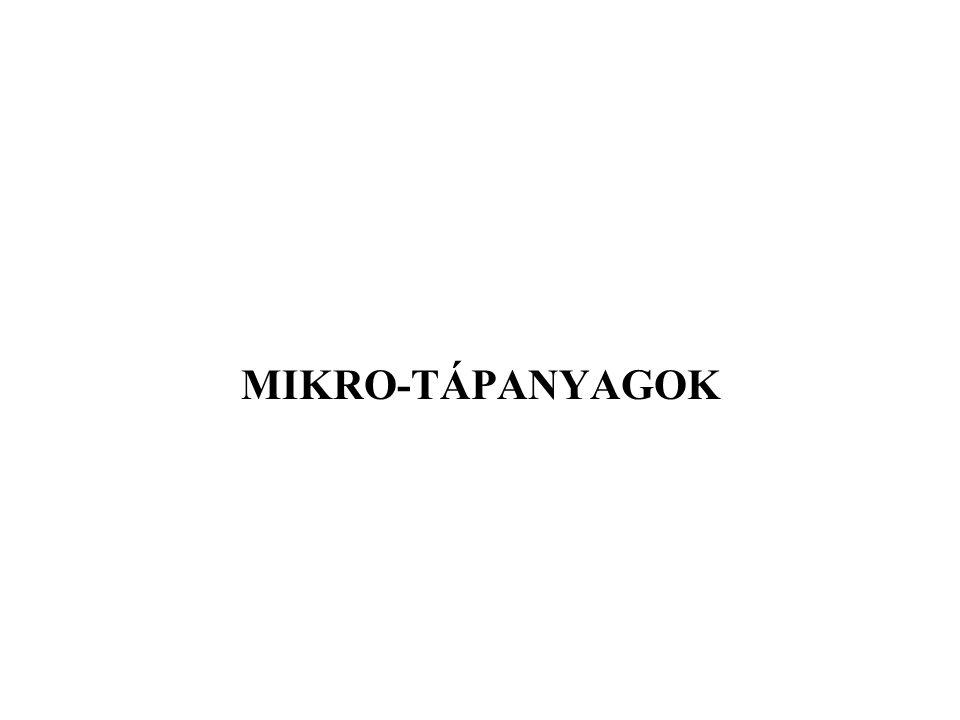 MIKRO-TÁPANYAGOK