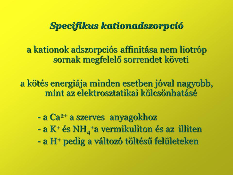 Specifikus kationadszorpció