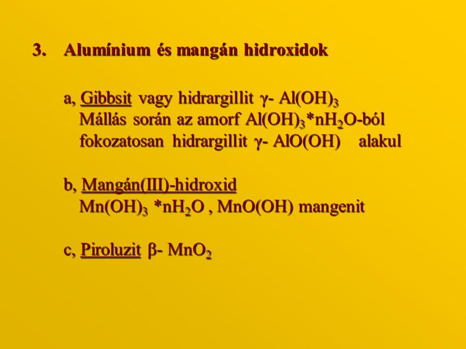 Alumínium és mangán hidroxidok