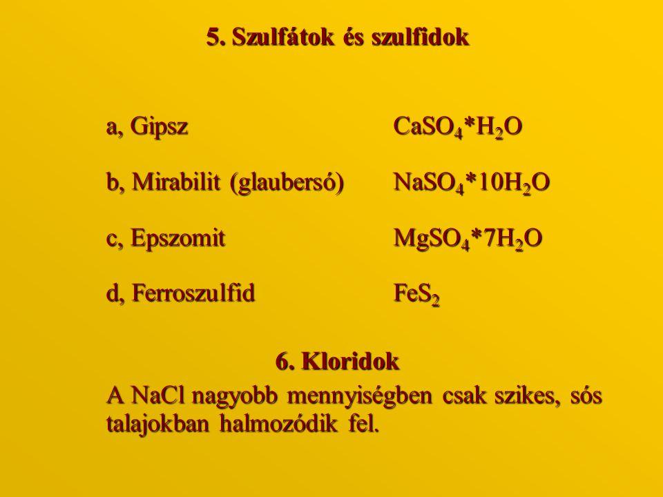 5. Szulfátok és szulfidok