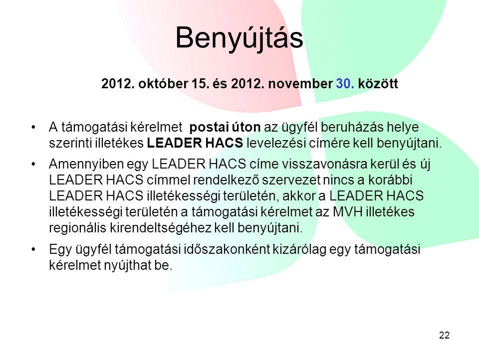 2012. október 15. és 2012. november 30. között