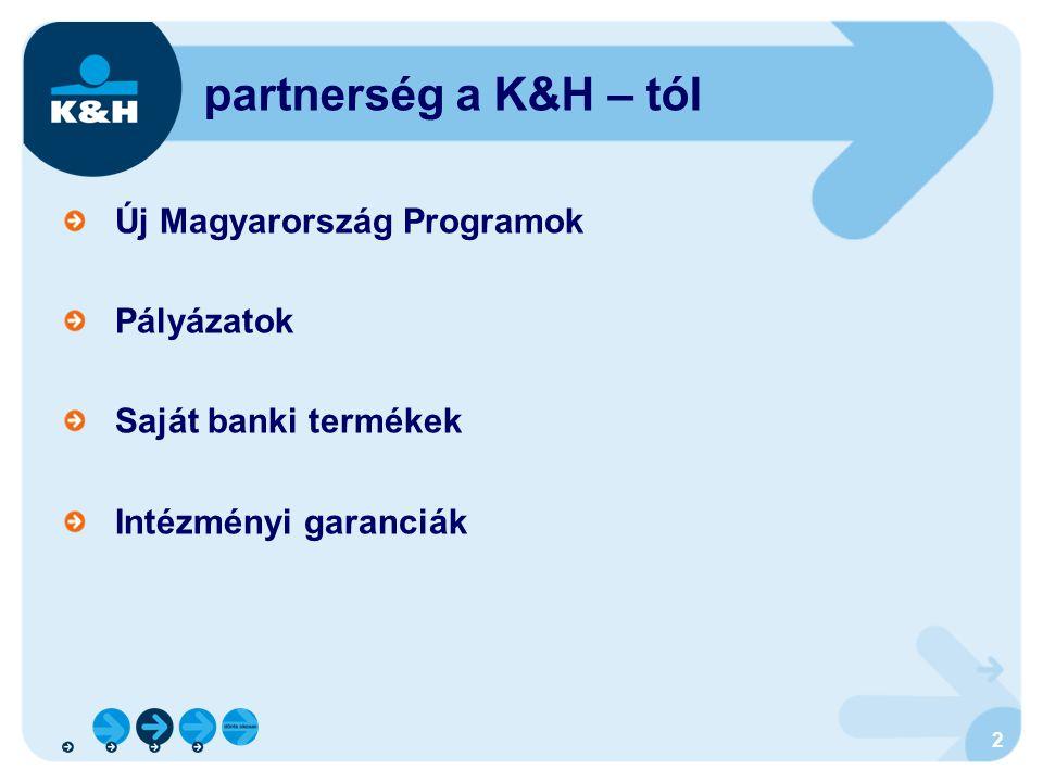 partnerség a K&H – tól Új Magyarország Programok Pályázatok