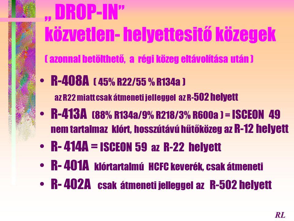 """"""" DROP-IN közvetlen- helyettesitő közegek ( azonnal betölthető, a régi közeg eltávolítása után )"""
