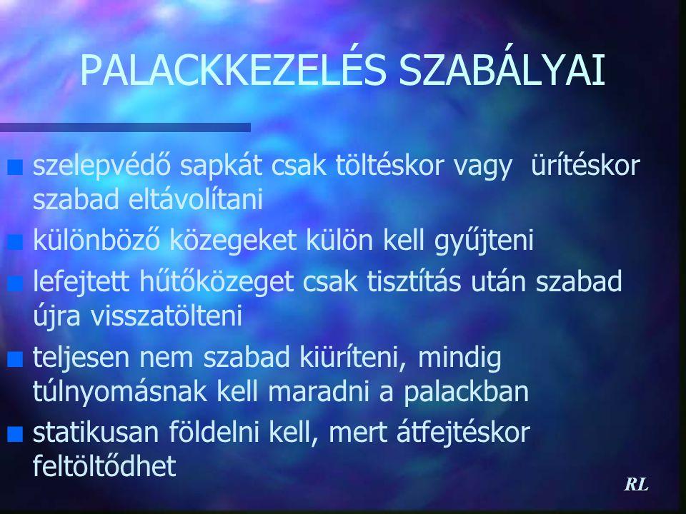 PALACKKEZELÉS SZABÁLYAI