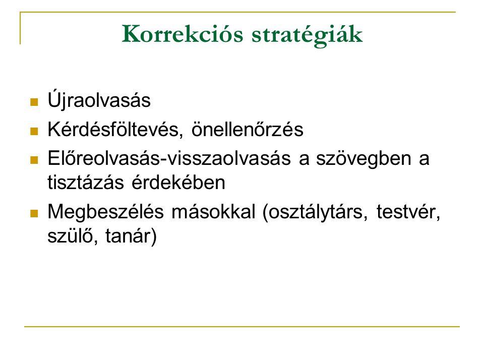 Korrekciós stratégiák