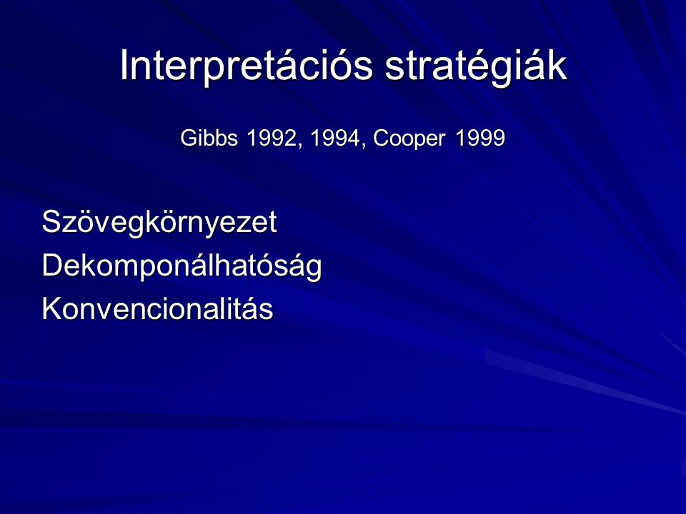 Interpretációs stratégiák