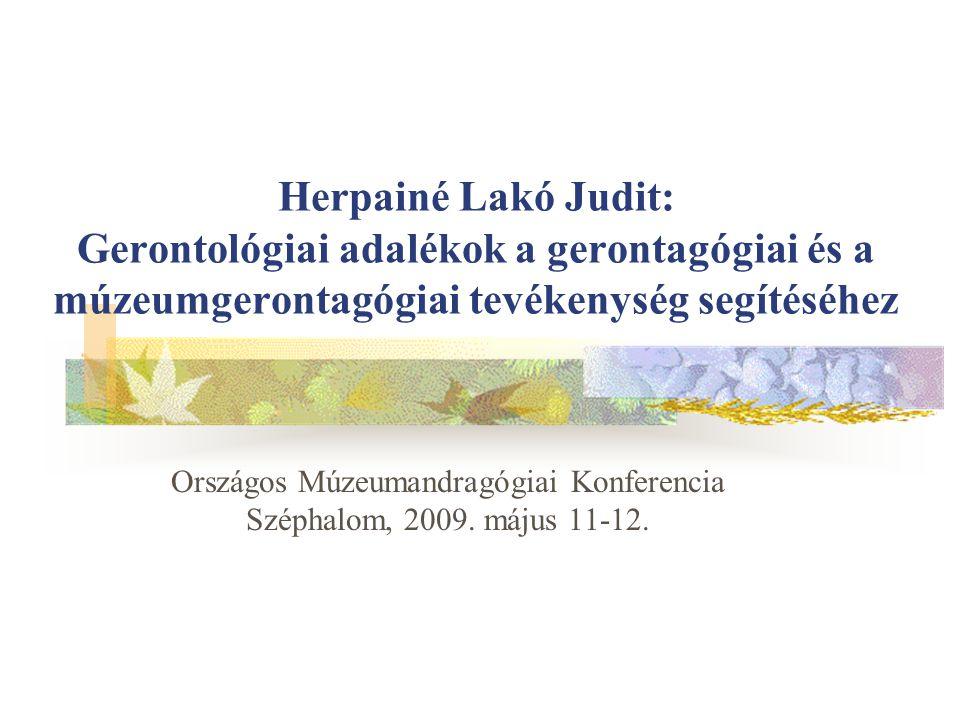 Országos Múzeumandragógiai Konferencia Széphalom, 2009. május 11-12.