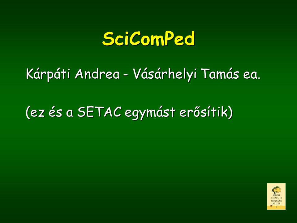 SciComPed Kárpáti Andrea - Vásárhelyi Tamás ea.
