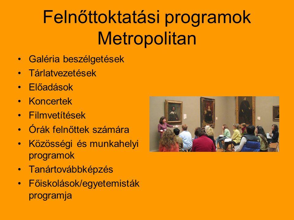 Felnőttoktatási programok Metropolitan