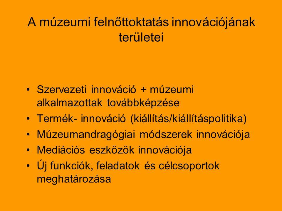 A múzeumi felnőttoktatás innovációjának területei