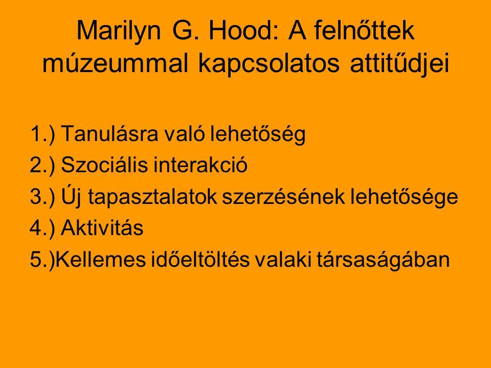 Marilyn G. Hood: A felnőttek múzeummal kapcsolatos attitűdjei