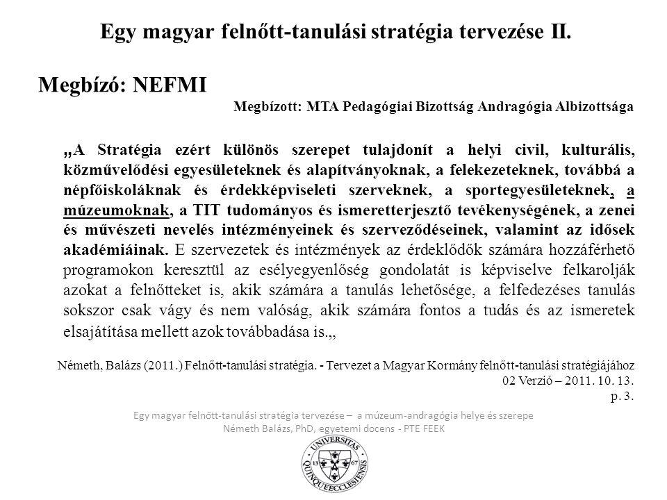 Egy magyar felnőtt-tanulási stratégia tervezése II.
