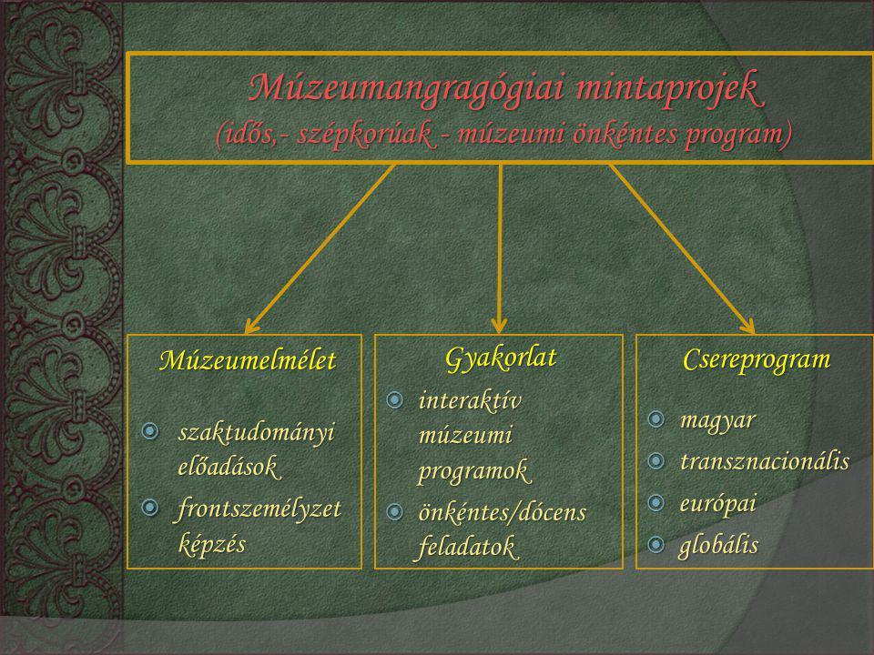 Múzeumangragógiai mintaprojek (idős,- szépkorúak - múzeumi önkéntes program)