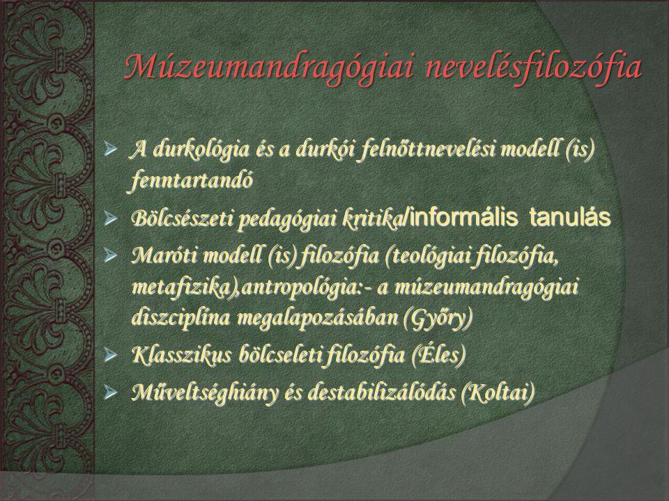 Múzeumandragógiai nevelésfilozófia