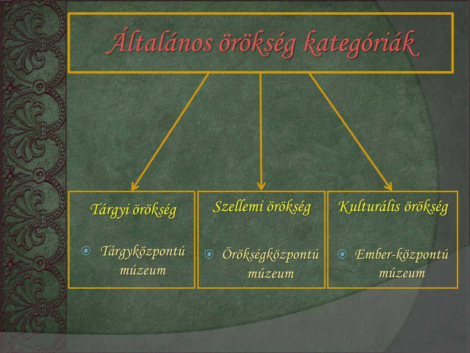 Általános örökség kategóriák