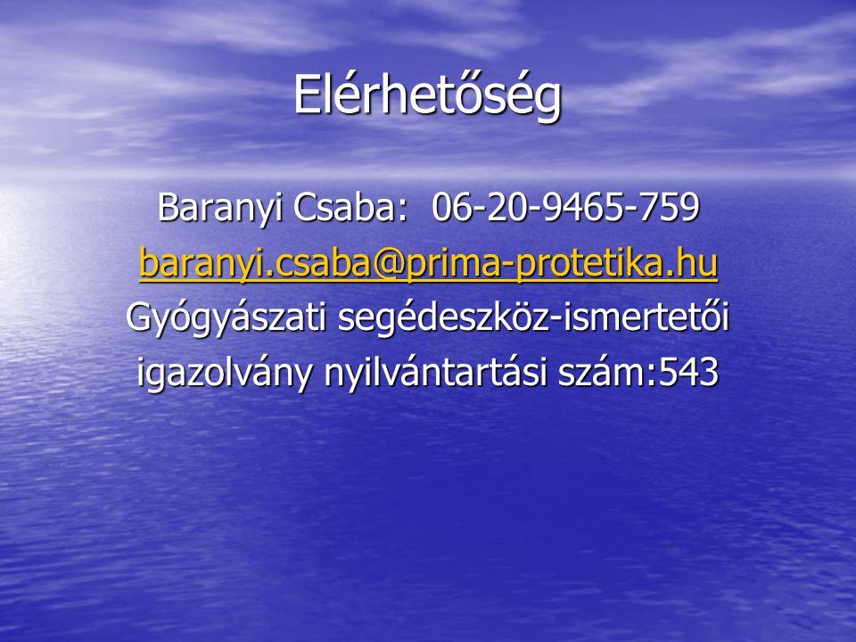 Elérhetőség Baranyi Csaba: 06-20-9465-759