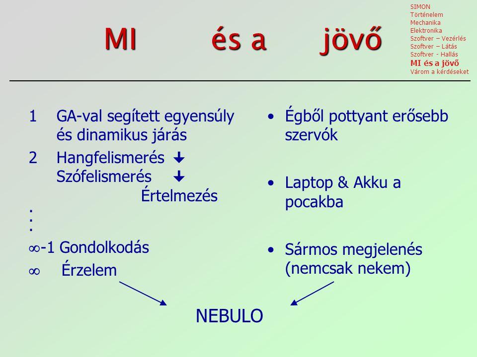 MI és a jövő NEBULO 1 GA-val segített egyensúly és dinamikus járás