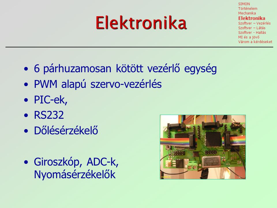 Elektronika 6 párhuzamosan kötött vezérlő egység