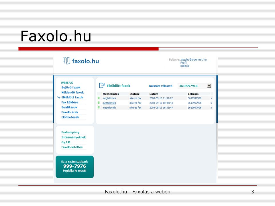 Faxolo.hu - Faxolás a weben