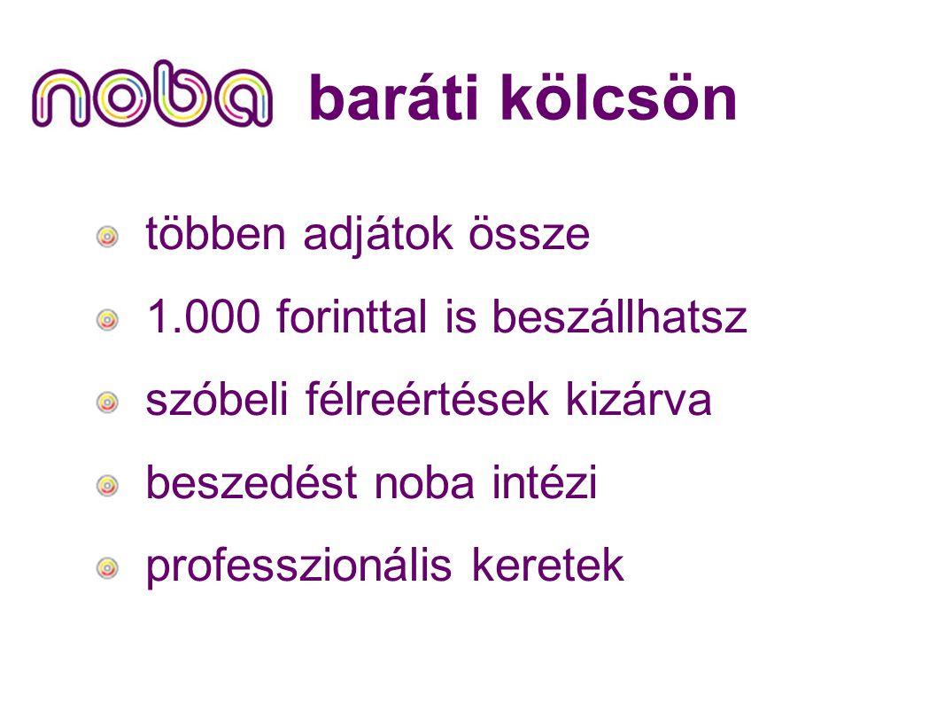 baráti kölcsön többen adjátok össze 1.000 forinttal is beszállhatsz