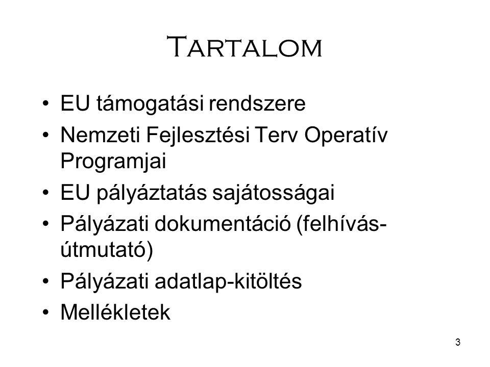 Tartalom EU támogatási rendszere