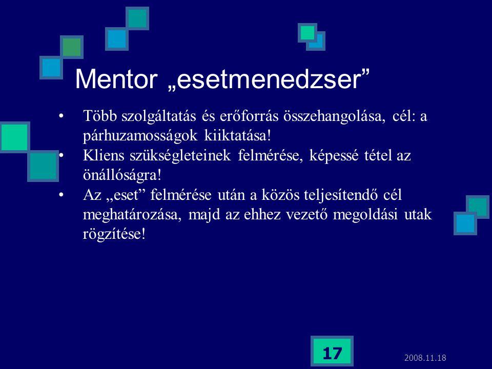 """Mentor """"esetmenedzser"""