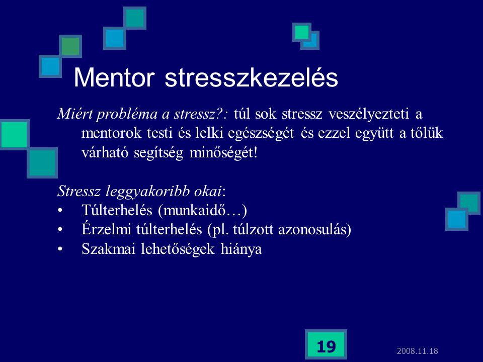 Mentor stresszkezelés