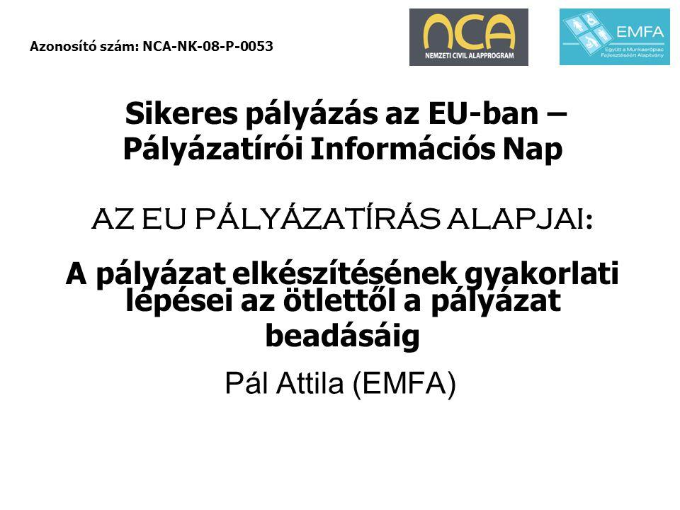 Azonosító szám: NCA-NK-08-P-0053