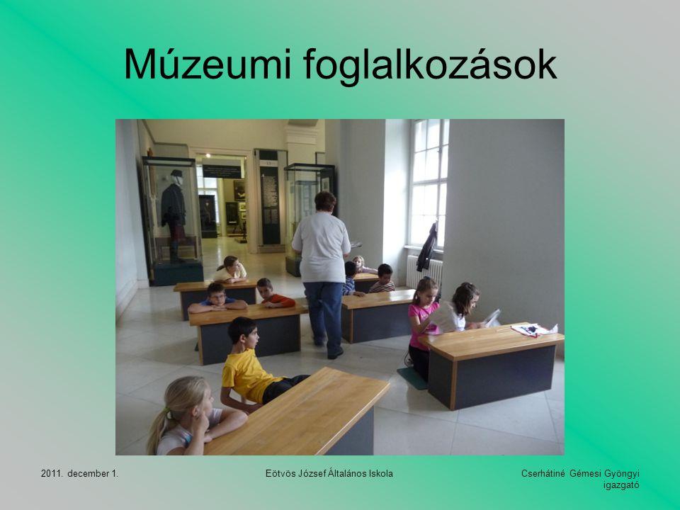 Múzeumi foglalkozások