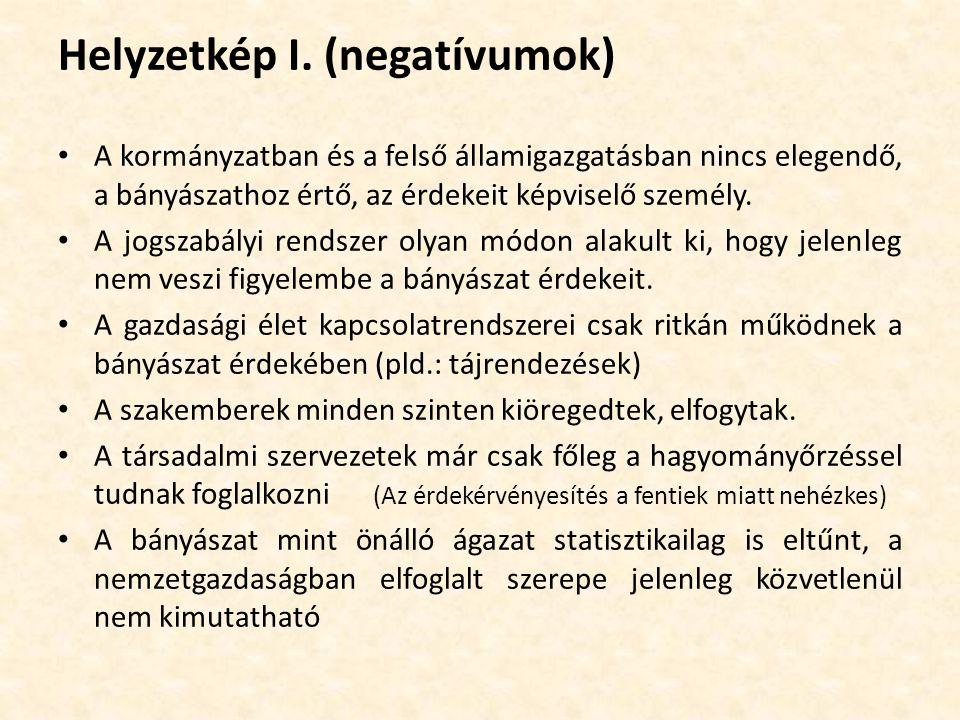 Helyzetkép I. (negatívumok)
