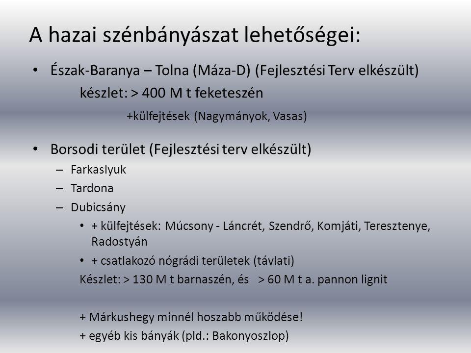 A hazai szénbányászat lehetőségei: