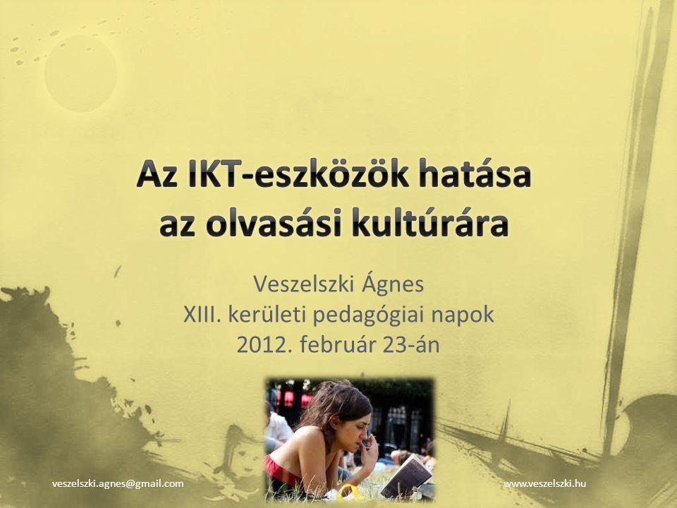 Az IKT-eszközök hatása az olvasási kultúrára