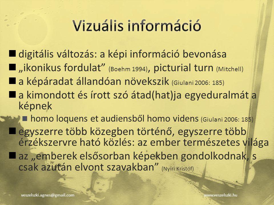 Vizuális információ digitális változás: a képi információ bevonása