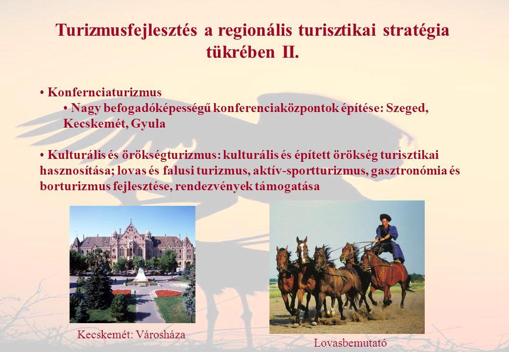 Turizmusfejlesztés a regionális turisztikai stratégia tükrében II.