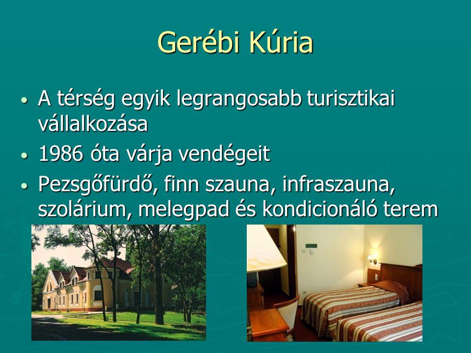 Gerébi Kúria A térség egyik legrangosabb turisztikai vállalkozása